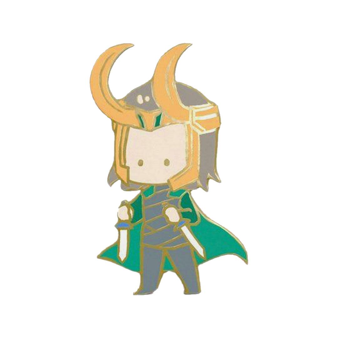 Marvel Chibi Loki Enamel Pin
