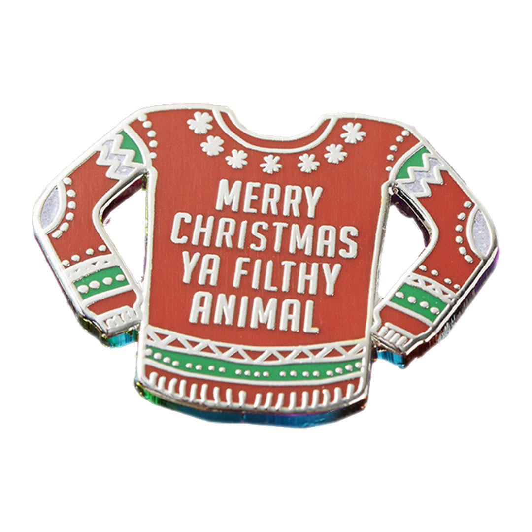 Merry Christmas Ya Filthy Animal.Home Alone Merry Christmas Ya Filthy Animal Enamel Pin Geekvault