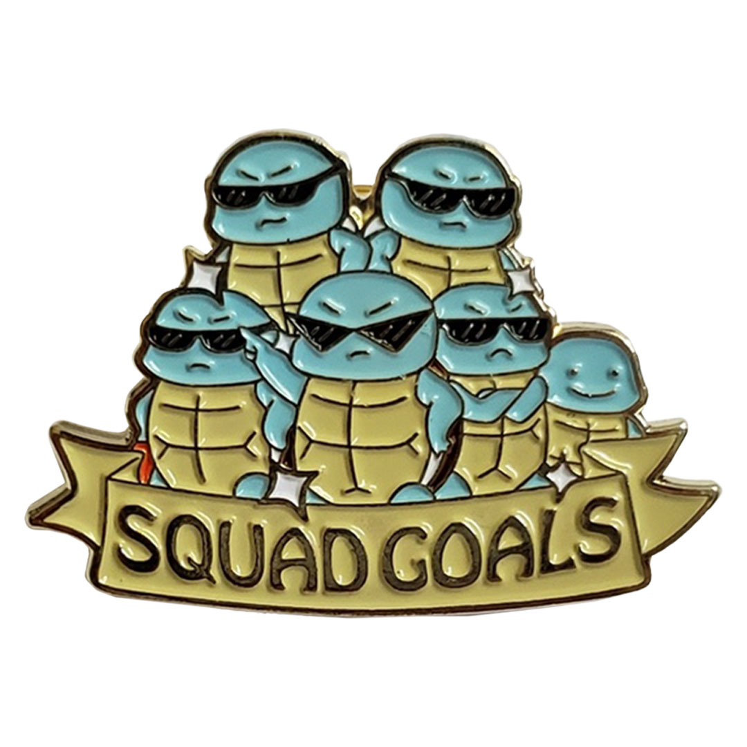 HERE COMES THE SQUIRTLE SQUAD Pokemon Enamel Pin NEW