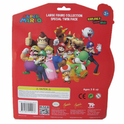 Mario Action figure 2-pack Backing Card