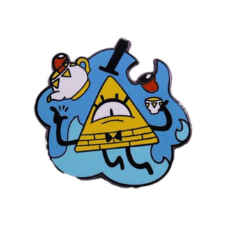 bill cipher tea party pin
