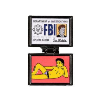 Simpson's Agent Mulder FBI Badge Enamel Pin (Open)