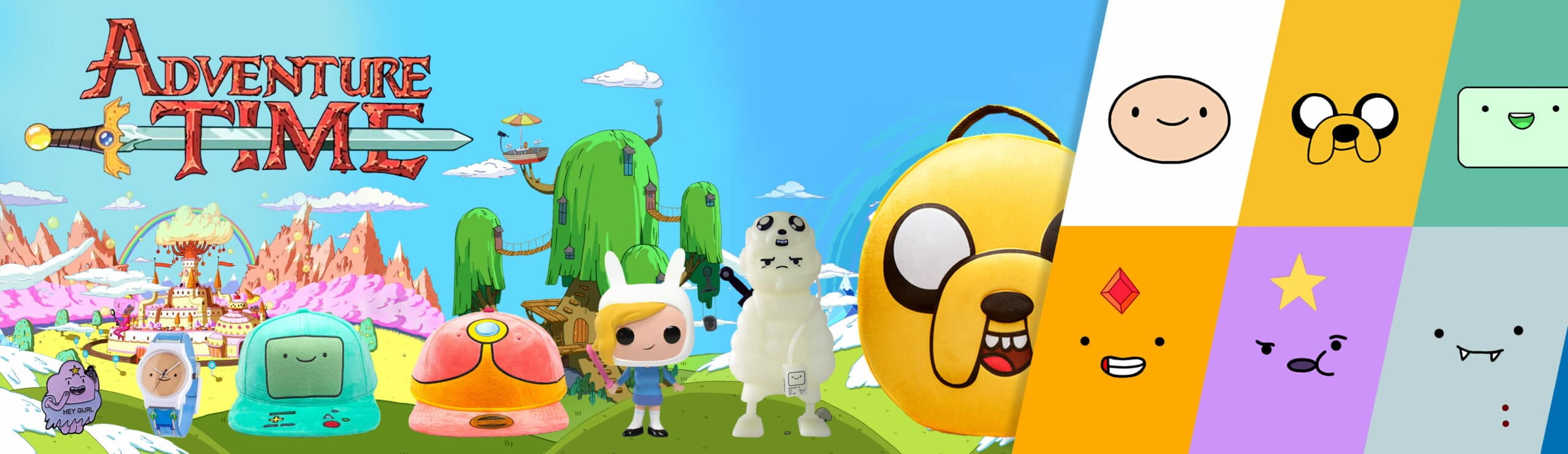 Adventure time product banner