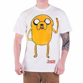 Adventure Time Jake T-shirt on person