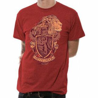 Harry Potter Gyrffindor Crest On Red T-Shirt