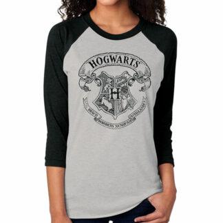 Harry Potter Hogwarts Crest Baseball Tee