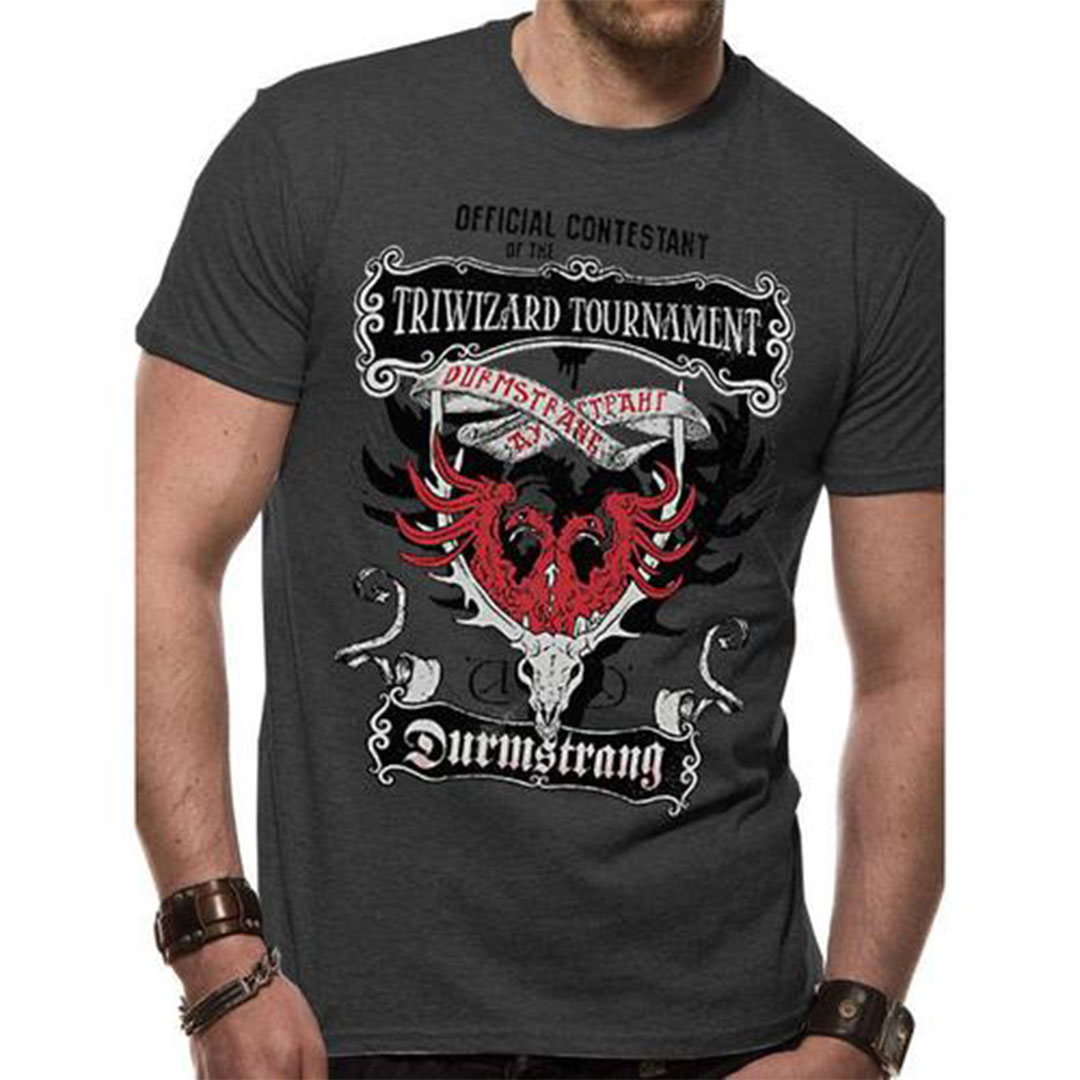 Harry Potter Tri Wizard Tournament Durmstrang Institute T Shirt Charcoal Geekvault Durmstrang institute is mentioned briefly in both the harry potter books and movies, so here are a few facts about this mysterious wizarding school. harry potter tri wizard tournament durmstrang institute t shirt charcoal