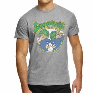 Lemmings Video Game Pixel Tee on person