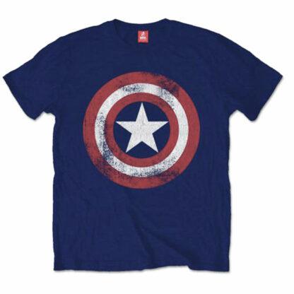 captain america distressed shield tee
