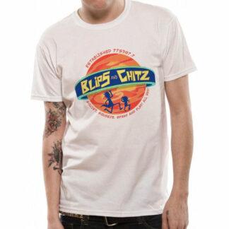 Rick & Morty Blips & Chitz Logo T-Shirt