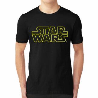 Star Wars Classic Logo Black T-Shirt