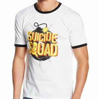 suicide squad bomb logo tee on person