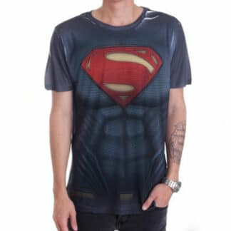 Man Of Steel Textured T-Shirt Front