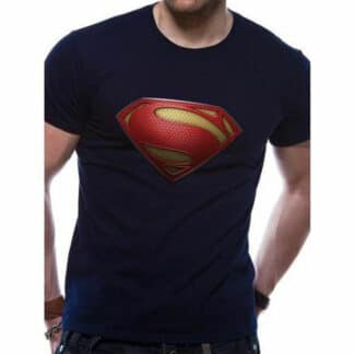 Man Of Steel Textured Logo T-Shirt