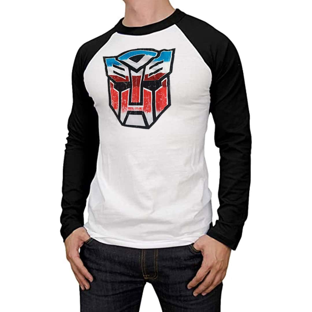 Transformers Decepticons Distressed Symbol Licensed Adult T-Shirt