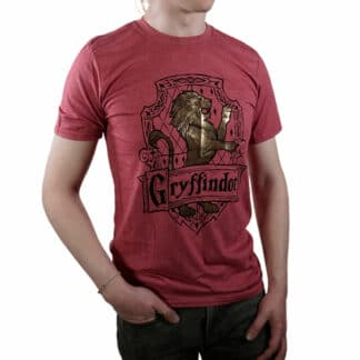 Harry Potter Gryffindor Gold Crest T-Shirt On Person