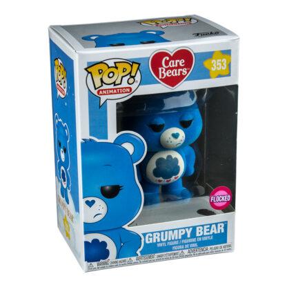 grumpy bear flocked pop box