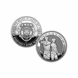 Resident Evil 2 Collectable Coin Leon & Claire Silver Edition