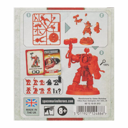 Warhammer Space Marine Heroes Series 2 Individual Box Back