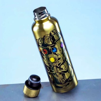 Marvel Avengers Endgame Infinity Gauntlet Metal Water Bottle Product Shot