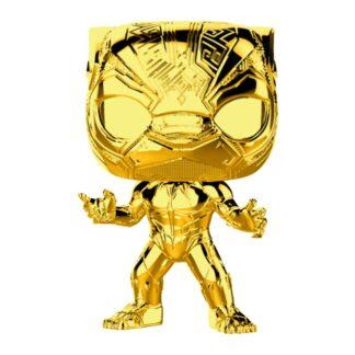 gold chrome black panther pop