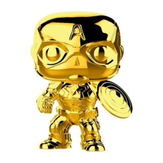 gold chrome captain america pop