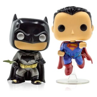 DC Funko POP! Vinyl Batman Vs Superman Metallic 2-Pack