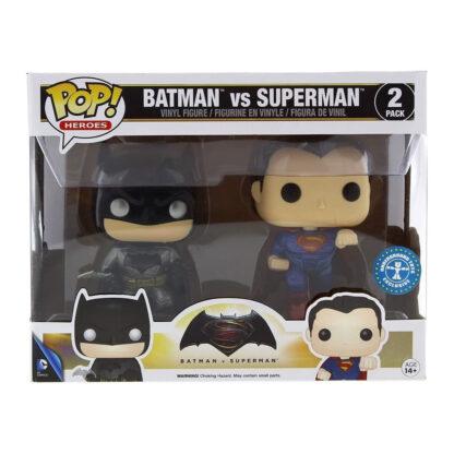 DC Funko POP! Vinyl Batman Vs Superman Metallic 2-Pack Boxed