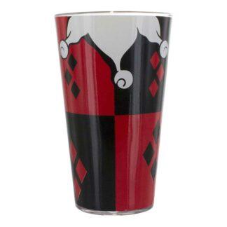 DC HARLEY QUINN RED BLACK DRINKING GLASS