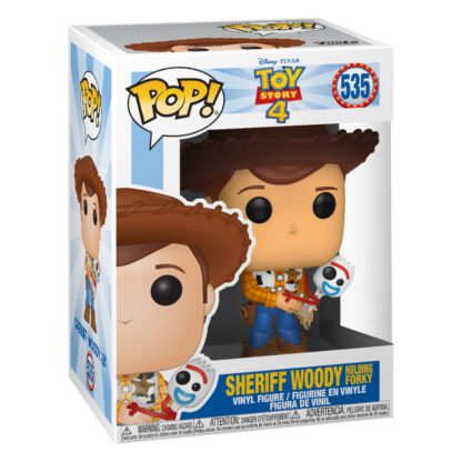 Funko Pop! Disney Pixar: Toy Story 4 - Woody and Forky (UK Exclusive) Boxed