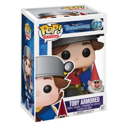 Trollhunters Funko POP! Vinyl #473 Toby Armoured Boxed